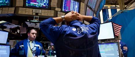 Aktierna rasar i värde på många av världens börser. Foto: Scanpix