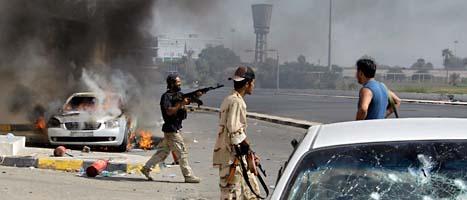 Det är fortfarande strider i libyens huvudstad. Foto: Sergej Ponomarev/Scanpix