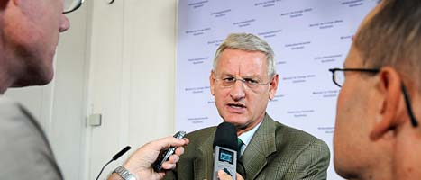 Sveriges utrikesminister Carl Bildt. Foto: Anders Wiklund/Scanpix