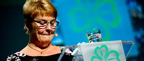 Maud Olofsson slutar som partiledare. Foto: Pontus Lundahl/Scanpix