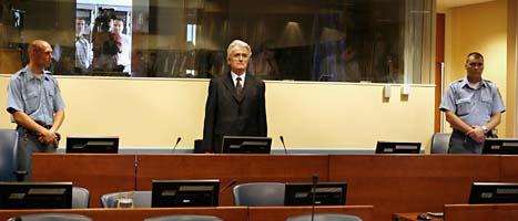 Den misstänkte krigsbrottslingen Radovan Karadzic. Foto: Jerry Lampen/Scanpix