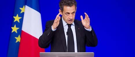 Frankrikes president Nicolas Sarkozy. Foto: Geert Vanden Wijngaert/Scanpix
