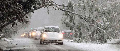 Snön ställde till stora problem i norra USA i helgen. Foto: Peter Carr/Scanpix