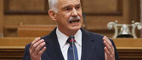 Greklands premiärminister Giorgos Papandreou. Foto: John Kolesidis/Scanpix