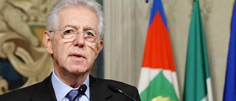 Mario Monti ska bilda ny regering i Italien. Han tar över som premiärminister efter Silvio Berlusconi. Foto: Roberto Monaldo/Scanpix