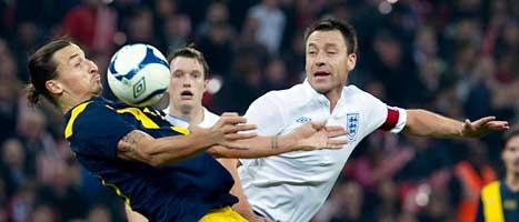 Zlatan var inte på topp i matchen mot England. Foto: Scanpix