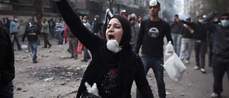 Det var våldsamt på Frihetstorget i Egypten. Foto: Tara Todras-Whitehill/Scanpix