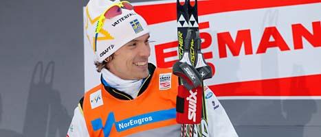 Johan Olsson vann helgens tävling. Foto: Terje Bendiksby/Scanpix