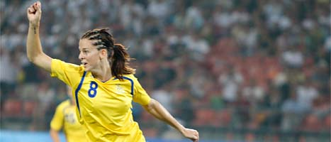 Lotta Schelin är en av världens bästa spelare. Foto: Luca Bruno/Scanpix