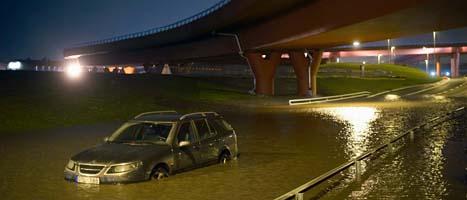 Ovädret ställde till stora problem i södra och västra Sverige. Foto: Scanpix