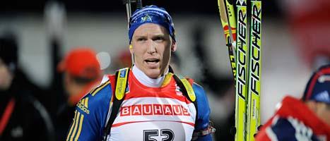 Björn Ferry slutade på 61a plats i herrarnas distanslopp. Foto: Anders Wiklund/Scanpix