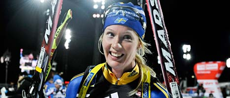 Anna Maria Nilsson blev tvåa i världscupen. Foto: Anders Wiklund/Scanpix