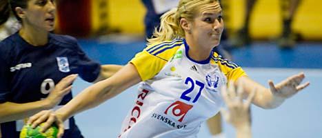 Sverige hade en enkel match mot Argentina. På bilden syns Sveriges Sabina Jacobsen Rosengren. FOTO: Leif R Jansson/SCANPIX