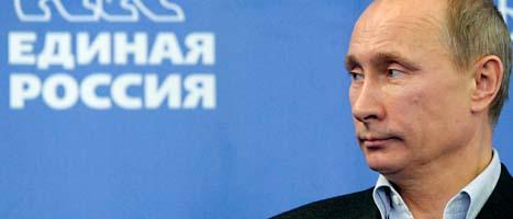 Rysslands premiärminister Vladimir Putin. FOTO: Alexei Nikolsky/SCANPIX