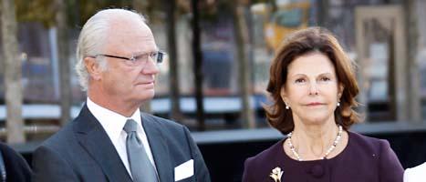 Kungen och drottning Silvia på besök i New York i USA. Foto: Lise Åserud/Scanpix