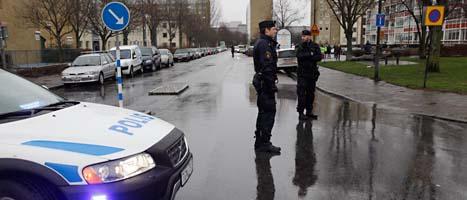 En man sköts ihjäl i Malmö på tisdagen. Foto: Drago Prvulovic/Scanpix