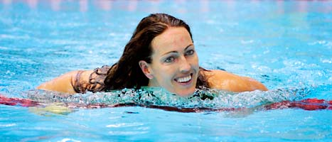 Therese Alshammar fick tre av de finaste priserna på idrottsgalan. Foto: Jessica Gow/Scanpix