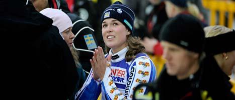 Maria Pietilä Holmner är skadad. Foto: Janerik Henriksson/Scanpix