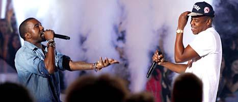 Rapparna Kanye West och Jay Z gör två konserter i Sverige. FOTO: Matt Sayles/SCANPIX