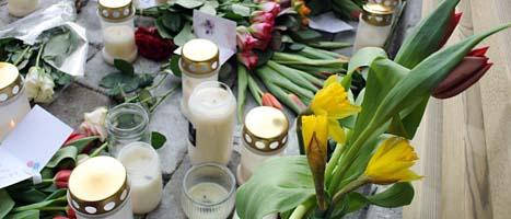 Här dödades en kvinna av sin förra sambo i fredags.  Foto: Johan Nilsson/Scanpix