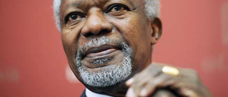 Kofi Annan ska försöka få stopp på våldet i Syrien. Foto: Sean Kilpatrick/Scanpix