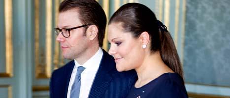 Daniel och Victoria har fått en dotter. Foto: Pontus Lundahl/Scanpix