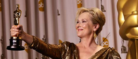 Meryl Streep fick en Oscar för bästa kvinnliga huvudroll. Foto: Ap/Scanpix