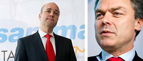 Statsminister Fredrik Reinfeldt ville inte stoppa samarbetet med Saudiarabien. Det säger Folkpartiets ledare Jan Björklund. FOTO: Pontus Lundahl och Bertil Ericson/SCANPIX