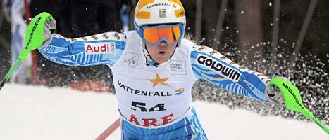 Den här veckan kör Anja Pärson sin sista tävling. Foto: Janerik Henriksson/Scanpix