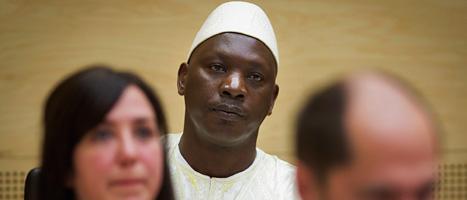 Thomas Lubanga dömdes för att ha kidnappat barn och tvingat dem att bli soldater. Foto: Evert-Jan Daniels/Scanpix