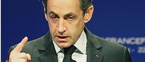 Sarkozy säger att terroristerna ska stoppas. Foto: Christian Lutz/Scanpix