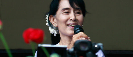 Aung San Suu Kyi fick många röster i valet i Burma. Foto: Khin Maung Win/Scanpix
