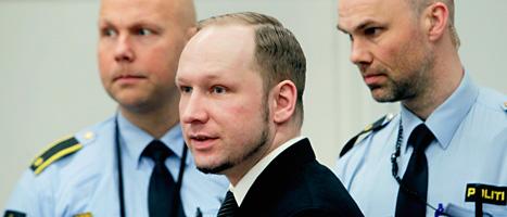 Anders Behring Breivik. Foto: Erlend Aas/Scanpix.
