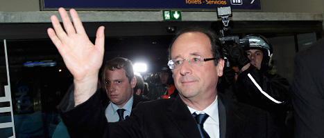 Francois Hollande har en bra chans att bli Frankrikes nya president. Foto: Bob Edme/Scanpix