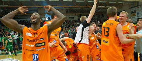 Norrköping Dolpins vann SM.guld i basket. Foto: Fredrik Sandberg/Scanpix