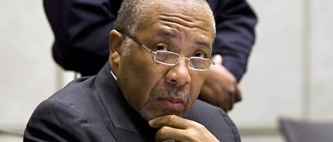 Liberias förre president Charles Taylor döms till 50 års fängelse för brott mot mänskligheten. Foto: Jerry Lampen/Scanpix