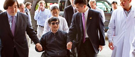 Chen Guangcheng säger att han vill lämna Kina. Foto: AP/Scanpix