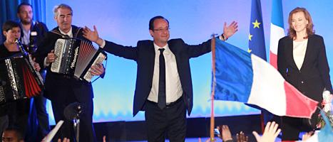 Francois Hollande vann presidentvalet. Foto: Bob Edme/Scanpix
