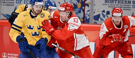 Tre Kronor vann mot Danmark. Foto: Claudio Bresciani/Scanpix