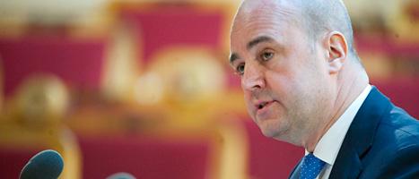 Fredrik Reinfeldt fick skäll för att han sagt att arbetslösheten är högre bland människor med invandrarbakgrund. Foto: Bertil Ericson/Scanpix