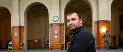 Omar Mustafa är ordförande i Islamiska förbundet i Sverige. Foto: Janerik Henriksson/Scanpix