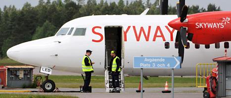 Skyways har slutat flyga. Foto: Johan Nilsson/Scanpix