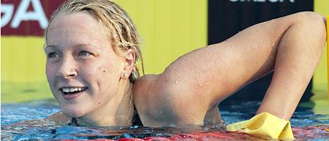 Sarah Sjöström vann guld. Foto: Maja Suslin/Scanpix