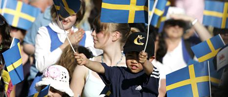 Så här såg det ut på Skansen i Stockholm den 6 juni förra året. Foto: Bertil Ericson/Scanpix
