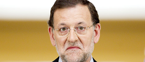 mariani Rajoy tvingades gå till EU och be om pengar för  att rädda landet ur krisen. Foto: Daniel Ochoa de Olsa/Scanpix