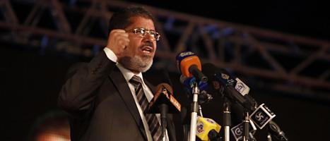 Muhammed Mursi blir Egyptens första president som är vald i ett fritt val. Foto: Fredrik Persson/Scanpix