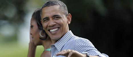 USA:s president Barack Obama kan vara glad. Högsta domstolen godkände lagen om att alla amerikaner måste ha en försäkring som betalar om de blir sjuka. Foto: Susan Walsh/AP/SCANPIX