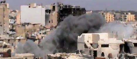 Striderna i Syrien har varit mycket hårda den senaste veckan. Foto: Sham News/AP/Scanpix.
