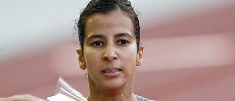 Marockos Mariem Alaoui Selsouli får aldrig mer tävla. FOTO: SCANPIX