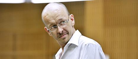 Peter Mangs i rättsalen i Malmö tingsrätt. Foto: Lars Pehrsson/Scanpix